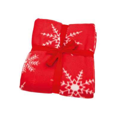 af7b8288f2 Image of Promotional Red Christmas Fleece Blanket With Snowflake Design