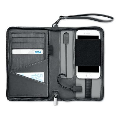 Image of Promotional Portfolio Organiser With Power Bank 4000 mAh & USB