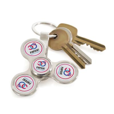 Image of Promotional Fidget Spinner Keyring, With Full Colour Print