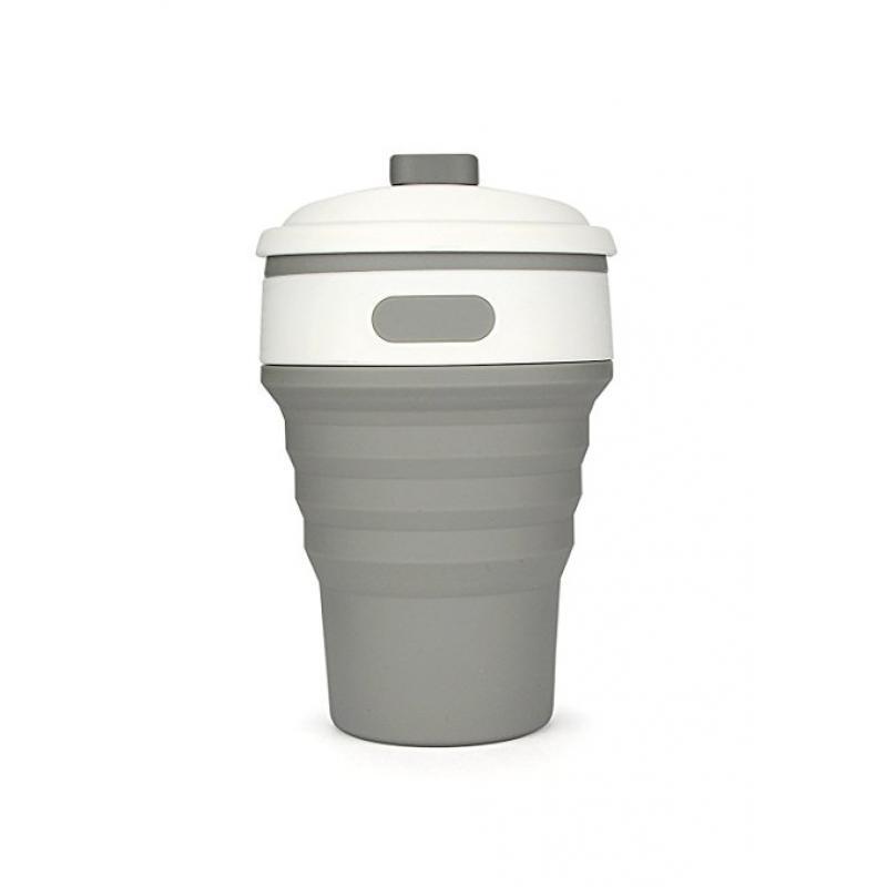 printed collapsible cup bpa free coffee mug grey. Black Bedroom Furniture Sets. Home Design Ideas