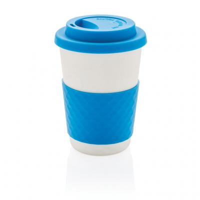 Image of Promotional Takeaway Coffee Cup, Bamboo Mug, Blue