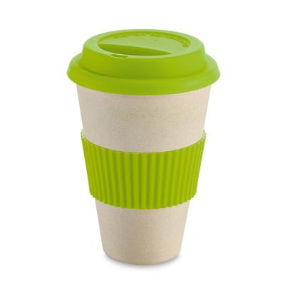 Image of Promotional Bamboo & rice Fibre Takeaway Cup With Lid and Sleeve
