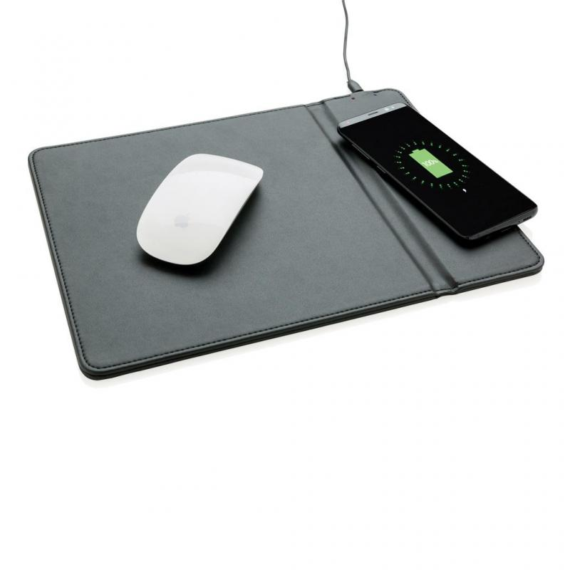 Promotional Mouse Mat With Integrated Wireless Charging Pad