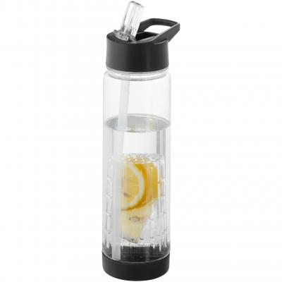 Image of Branded Tutti frutti Infusion bottle with fruit infuser black