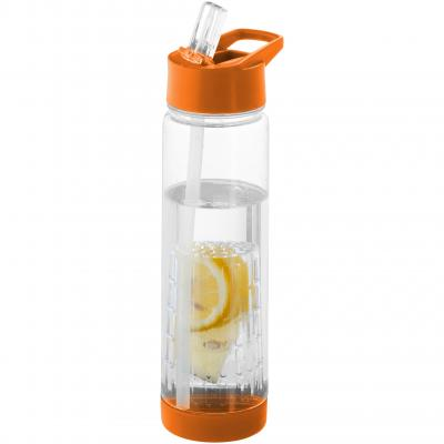 Image of Promotional Tutti frutti bottle with fruit infuser orange