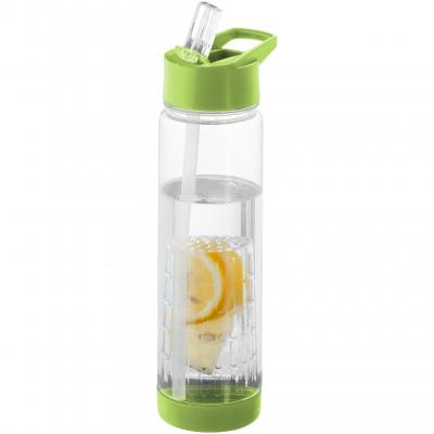 Image of Promotional Tutti frutti bottle with fruit infuser green