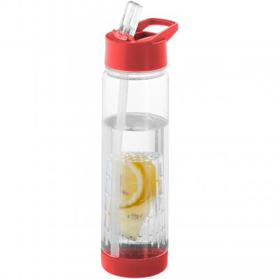 Image of Branded  Tutti frutti bottle with fruit infuser red
