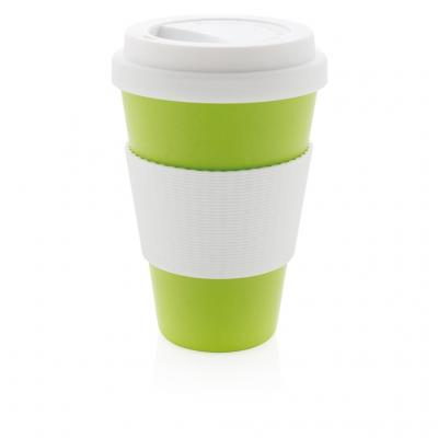 Image of Promotional Eco Bamboo Fibre Cup 430ml, Green
