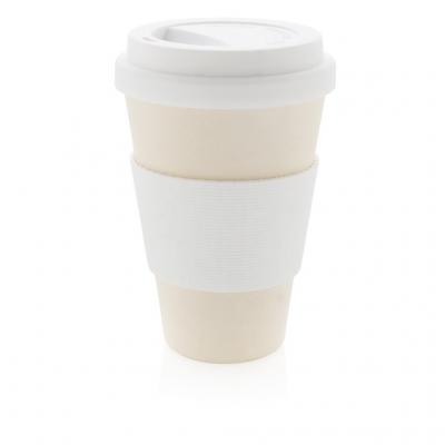 Image of Printed Eco Bamboo Fibre Cup 430ml, White