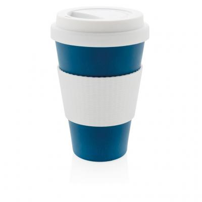 Image of Branded Eco Bamboo Fibre Cup 430ml, Blue