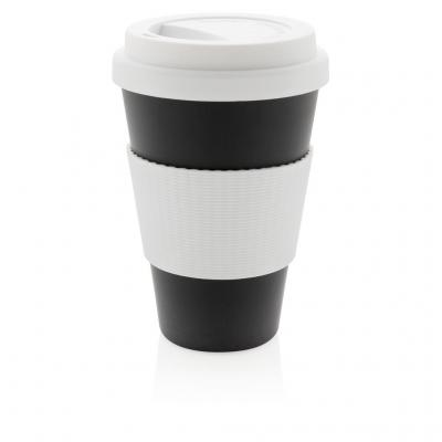 Image of Promotional Eco Bamboo Fibre Cup 430ml, Black