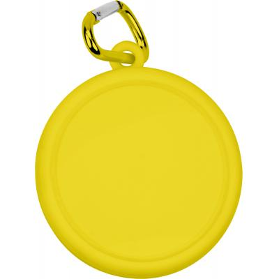 Image of Printed Collapsible Cup Yellow, Folding Cup With Carabiner Clip