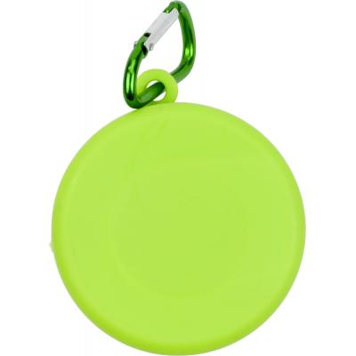 Image of Promotional collapsible Cup Light Green, folding Cup With Carabiner Clip