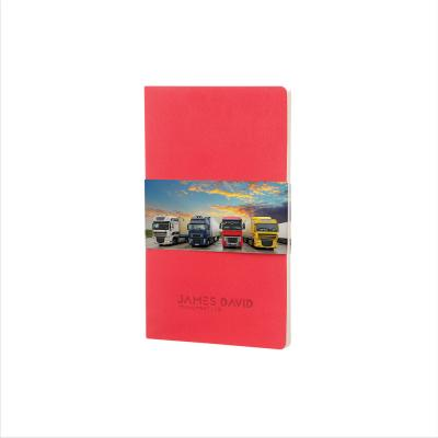 Image of Promotional Moleskine Volant A5 Notebook, Large Notebook Geranium Red