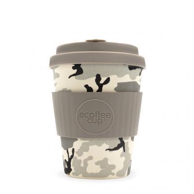 Branded Ecoffee Cup Reusable Bamboo Mug 12oz Sakura Pink