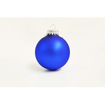 Image of Printed Christmas Tree Bauble 6 cm,Blue. Available in  60 mm 70 mm & 80 mm