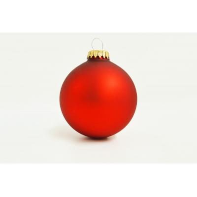 Image of Promotional Christmas Glass Bauble 7cm Red, Available in 60mm  70mm and 80 mm