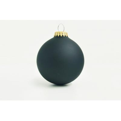 Image of Promotional Christmas Glass Bauble 8cm Black. Available In 60mm 70mm & 80mm