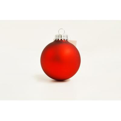Image of Promotional Christmas Tree Baubles 6 cm, Red. Available in 60mm 70mm & 80mm