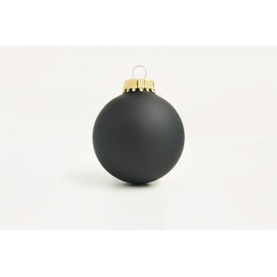 Image of Full Colour Printed Christmas Tree Baubles 6 cm Black 60mm 70mm & 80mm Available
