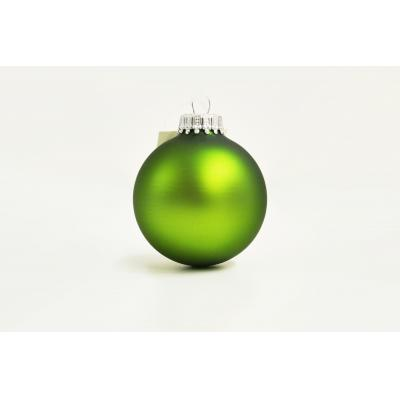 Image of Full Colour Printed Christmas Tree Bauble 7cm Green. Available In 60mm 70mm 80mm