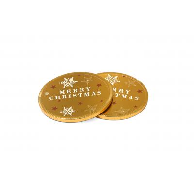 Image of Promotional Christmas Chocolate Medallion