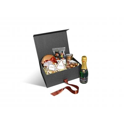 Image of Promotional Medium Christmas Chocolate and Champagne Gift Hamper Box