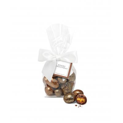Image of Promotional Christmas Chocolate Honeycomb Dusted In Festive Gold Dust With Gift Bag
