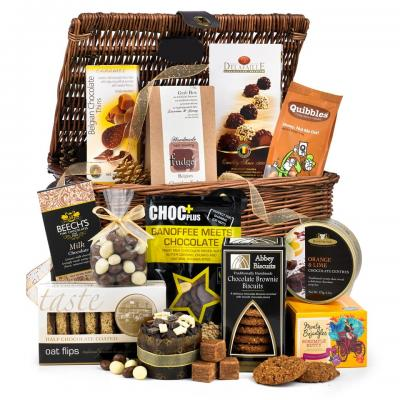 Image of Promotional Deluxe Chocolate Christmas Hamper Presented In Woven Hamper Box