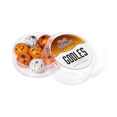 Image of Promotional Halloween Themed Chocolate Balls Presented In A Branded Gift Pot