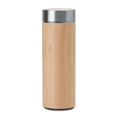 Image of Promotional Bamboo and Stainless Steel Reusable Mug, 400ml