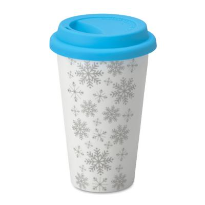 Image of Promotional Christmas Travel Mug, Ceramic Reusable Coffee Mug 275ml