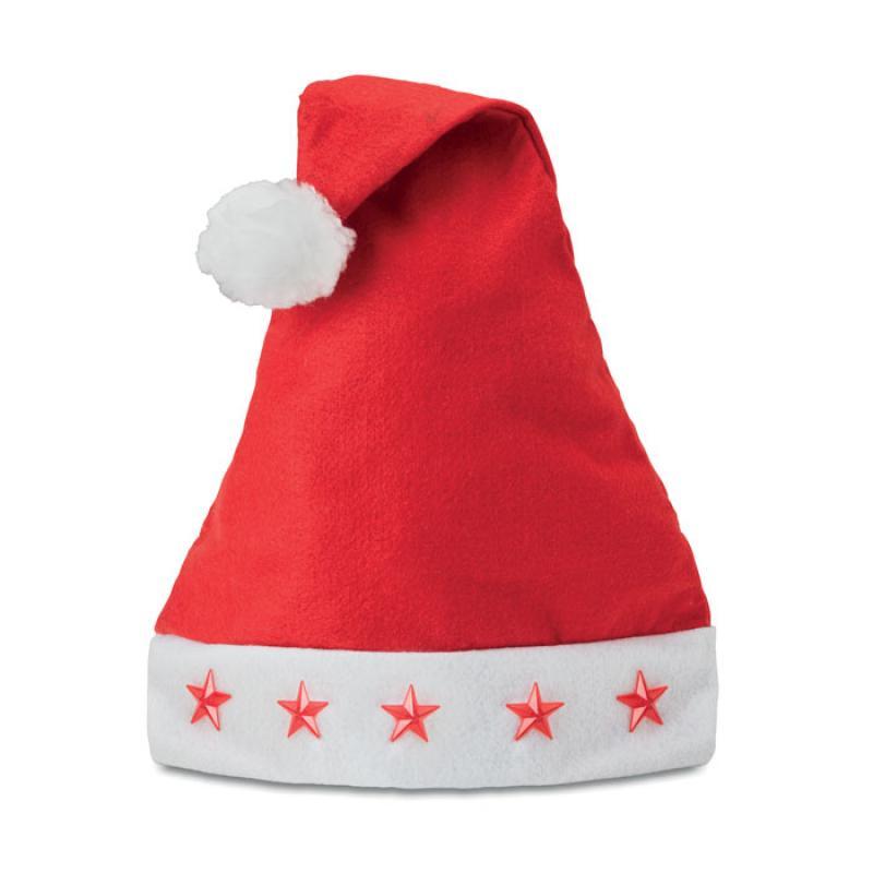 RED WHITE LIGHT UP FLASHING CHRISTMAS XMAS SANTA HAT
