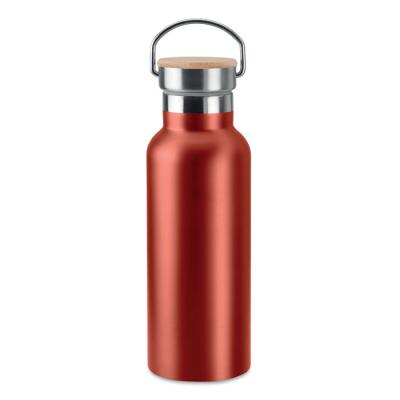 Image of Promotional Christmas Insulated Travel Bottle With Bamboo Lid