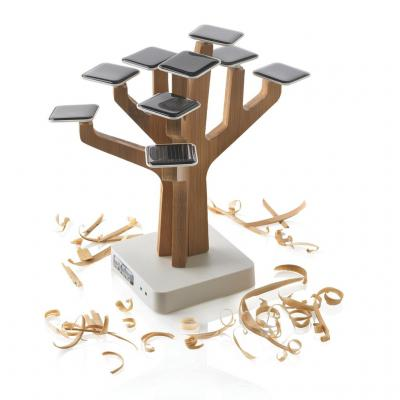 Image of Promotional Bamboo Suntree Solar Charger