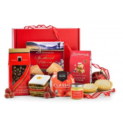 Image of Promotional Christmas Box Hamper Filled With Luxury Sweet Treats
