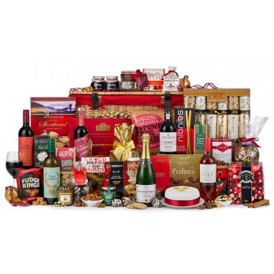 Image of Promotional Christmas Business Hamper, With Champagne, Port, Fine Wines & Luxury Treats