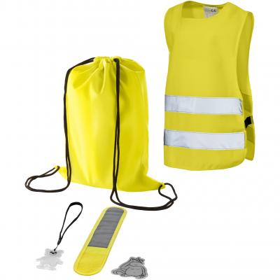 Image of Promotional Child's Five Piece Safety Set Includes Reflective Safety Vest & Rucksack