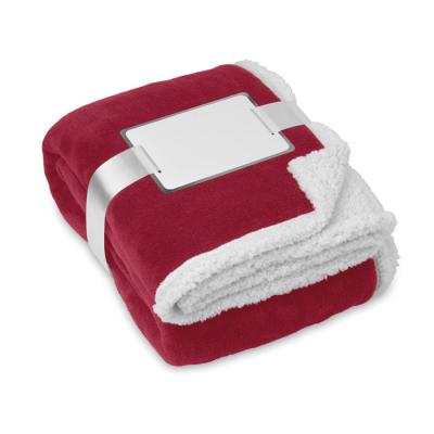 Image of Promotional Fleece Blanket With Sherpa Lining