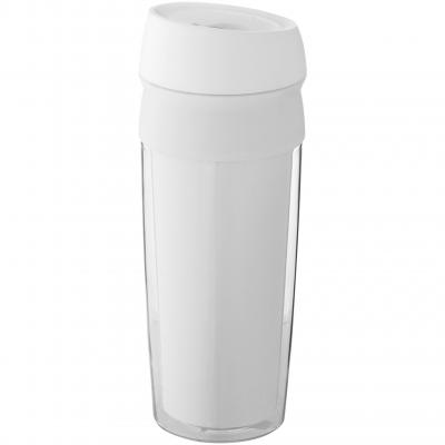 Image of Promotional Cebu insulated travel mug, white