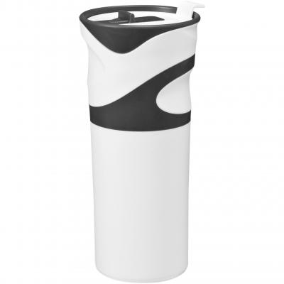 Image of Promotional Wave insulated travel mug with easy grip