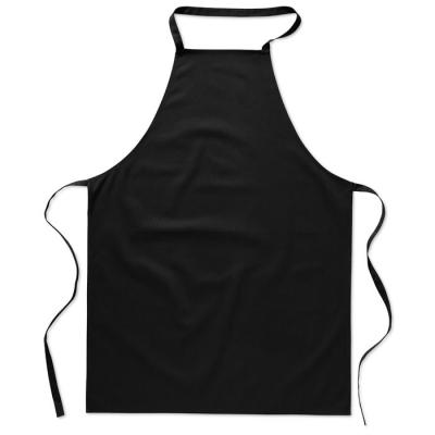 Image of Promotional Black Cotton Apron Printed With your Brand Name or Logo