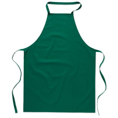 Image of Custom Branded Apron in Green Printed with your logo