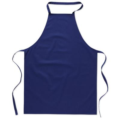 Image of Promotional 100% Cotton Apron Royal Blue, Printed With Your Logo