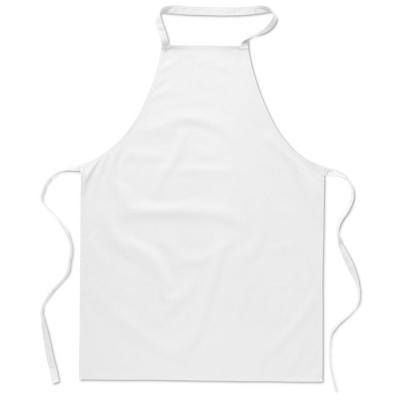 Image of Printed 100% Cotton Apron White, Low Cost Branded Apron