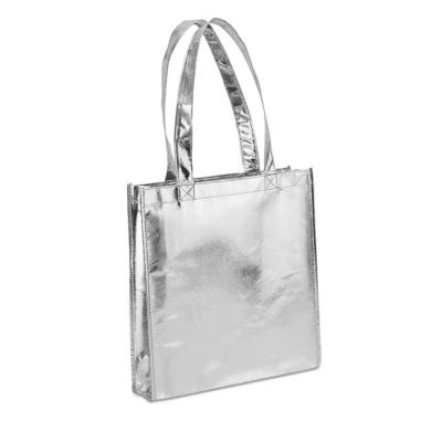 Image of Promotional Metallic Silver Non Woven Shopper Bag