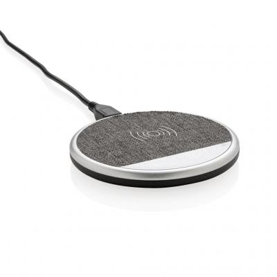 Image of Printed Vogue 5W wireless Qi phone charging pad, grey