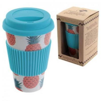 Image of Promotional reusable Bamboo coffee mug, 450ml