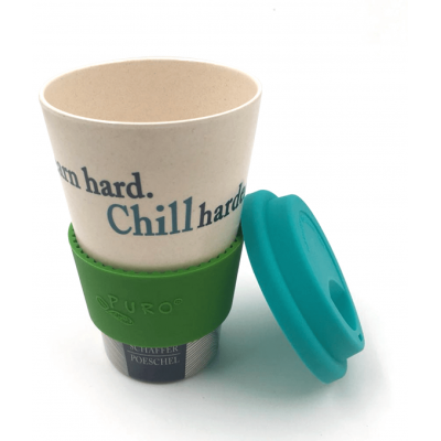 Image of Branded reusable Bamboo takeaway mug, 450ml