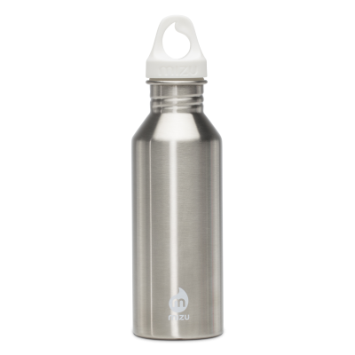 Image of Engraved Mizu M5 stainless steel reusable bottle, silver
